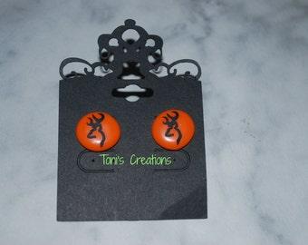 Browning Deer inspired Perler Bead Earrings, biggie bead earrings, #pb201