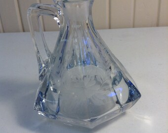 Etched glass cruet