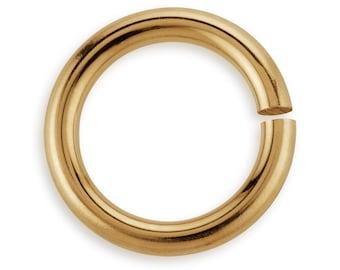 10 Pcs 6 mm 20ga 14K Gold Filled Open Jump Rings (GF20GOJR06)