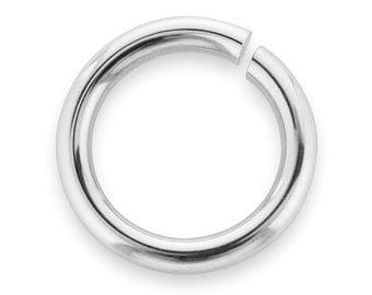 10 Pcs 8 mm 22ga Sterling Silver Open Jump Rings (SS22GOJR08)