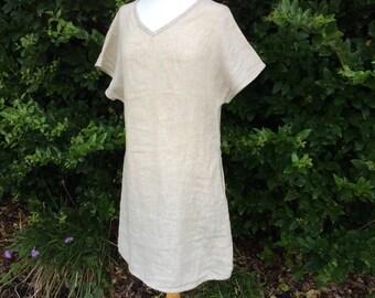 Trapeze Linen Dress, linen dress plus size, trendy plus size clothing, Womens plus sizes clothing, made to measure, grey dress, Tunic Dress