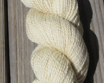 BFL Natural Colored White / Ivory / Cream or Brown / Gray Wool Yarn Skein