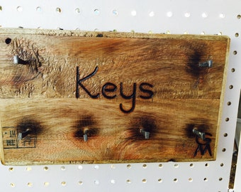 Rustic Wooden Key Holder
