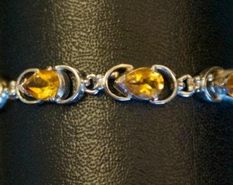 Splendid Yellow Topaz Silver Bracelet