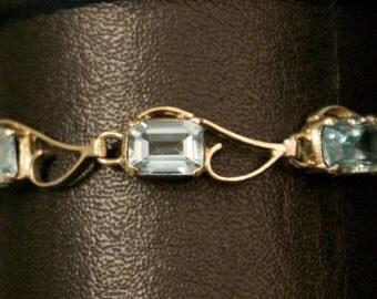 Compelling Blue Topaz Silver Bracelet