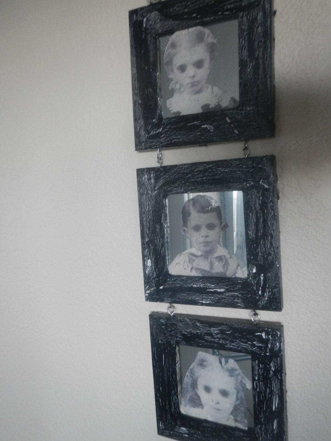 Black Eyed Children Tri Mirror Wall Hanging By Madamcurio