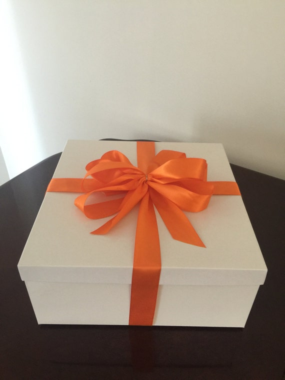 White Deluxe Gift Boxes With Lids 14 x 14 x 6 Lot Of 5