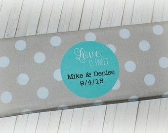Printable Chocolate Bar Label, Wedding Favor, Love Is Sweet, Engagement Party, Bridal Shower Favor, Hershey Bar
