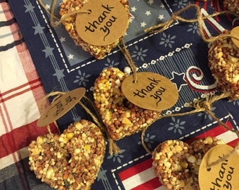 Bird seed favors