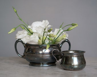 Vintage Silver Plated Cups   Perfect Patina
