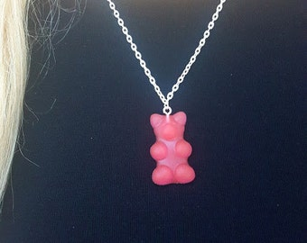 Red Gummy Bear Necklace Red Gummi Bear Necklace  Great Stocking Stuffer