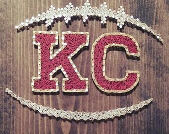 KC Chiefs String Art