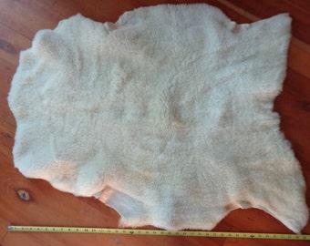 White shearling sheep skin-1673