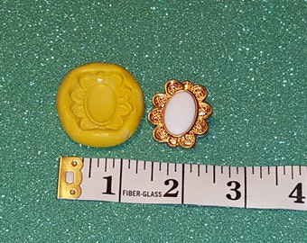 silicone mold- Frame pendant - gumpaste, fondant cake decorating, candy chocolate polymer clay