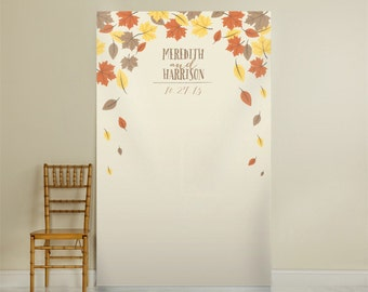 Personalized Fall-Style Photo Backdrop