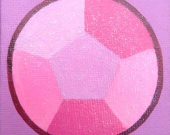 Rose Quartz Gem mini canvas