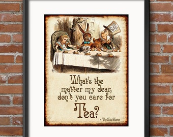 Alice in Wonderland Decorations - Instant Download - The Mad Hatter Clip Art- Scrapbook Invitations Alice in Wonderland Party Decorations