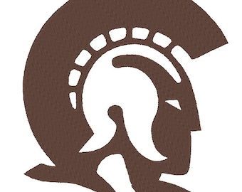 Little Rock Trojans Embroidery Design. 3 Sizes
