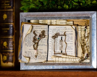Altered Book Shadowbox, Ode to American Poets Shadowbox, Poetry Shadowbox