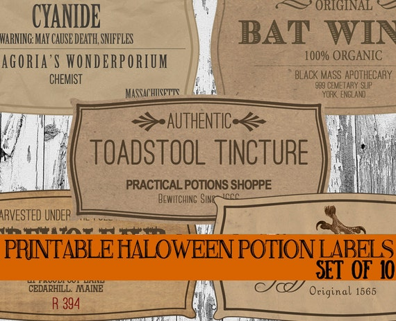 DIY Halloween Potion Label Printables