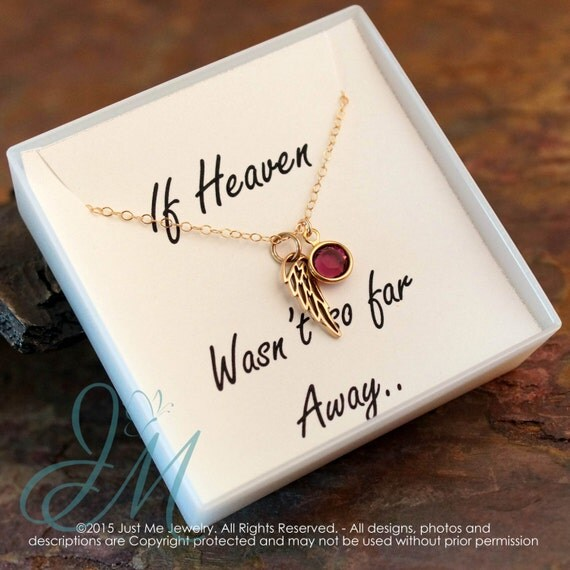 Miscarriage Jewelry - Remembrance Memorial Necklace - Child / Infant Loss - Too Beautiful for Earth (Gold)