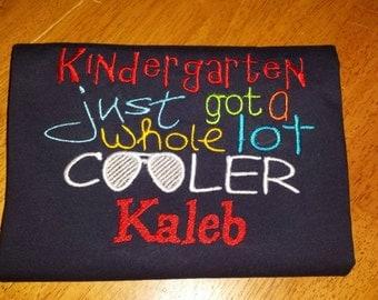 School shirts. Multiple designs for each grade