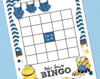 Minion Baby Shower Bingo Template