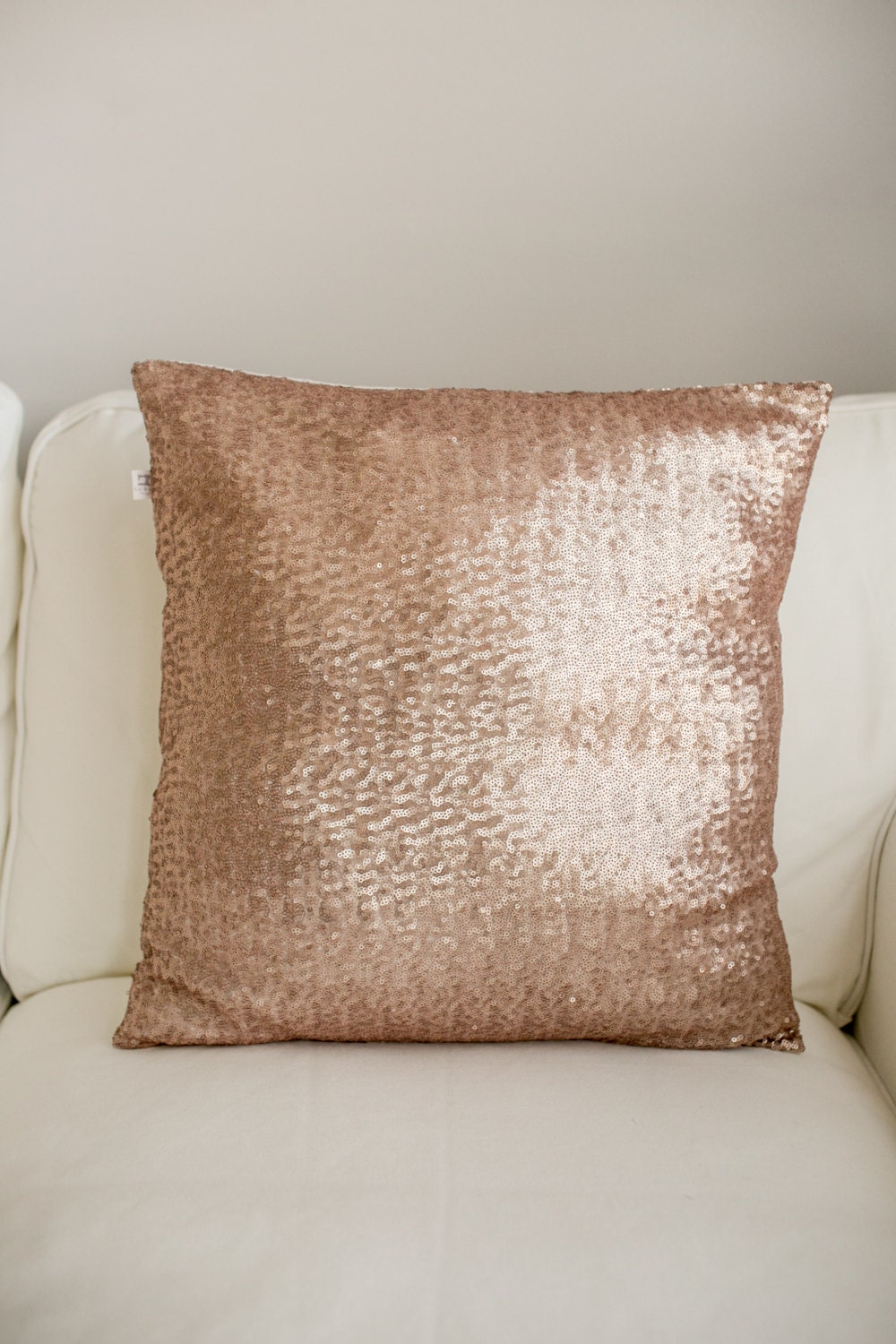 rose gold sequin pillow sequin pillow rose gold wedding. Black Bedroom Furniture Sets. Home Design Ideas