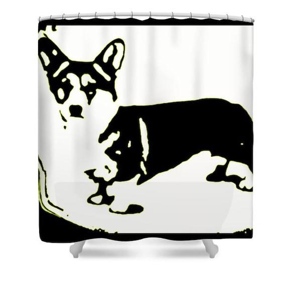 Corgi shower curtain unique bathroom curtain bathroom decor - Unique bathroom accessories sets ...