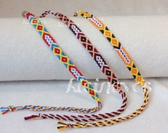 Knotted, traditional friendshipbracelet