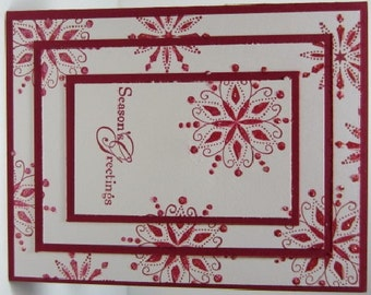 Handmade Christmas Snowflake Card