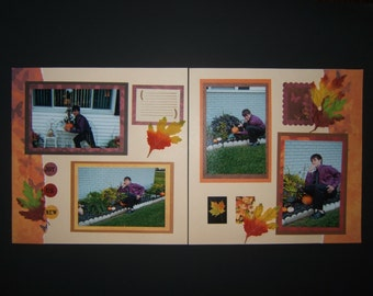 Autumn or Fall scrapbook pages 12 by 12 fall layouts 12 by 12 autumn layouts pumpkin patch pages pumpkin farm layouts