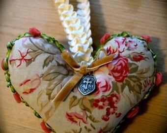 French Lavender  Sachet Heart