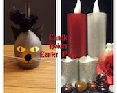 "FBPFAC-A4A-PART 15-RAFFLE-""Wounded Warrior Project""-Candle Holder Center Piece-Any Day Is A PurrFect Day For a Black Cat Center Piece"