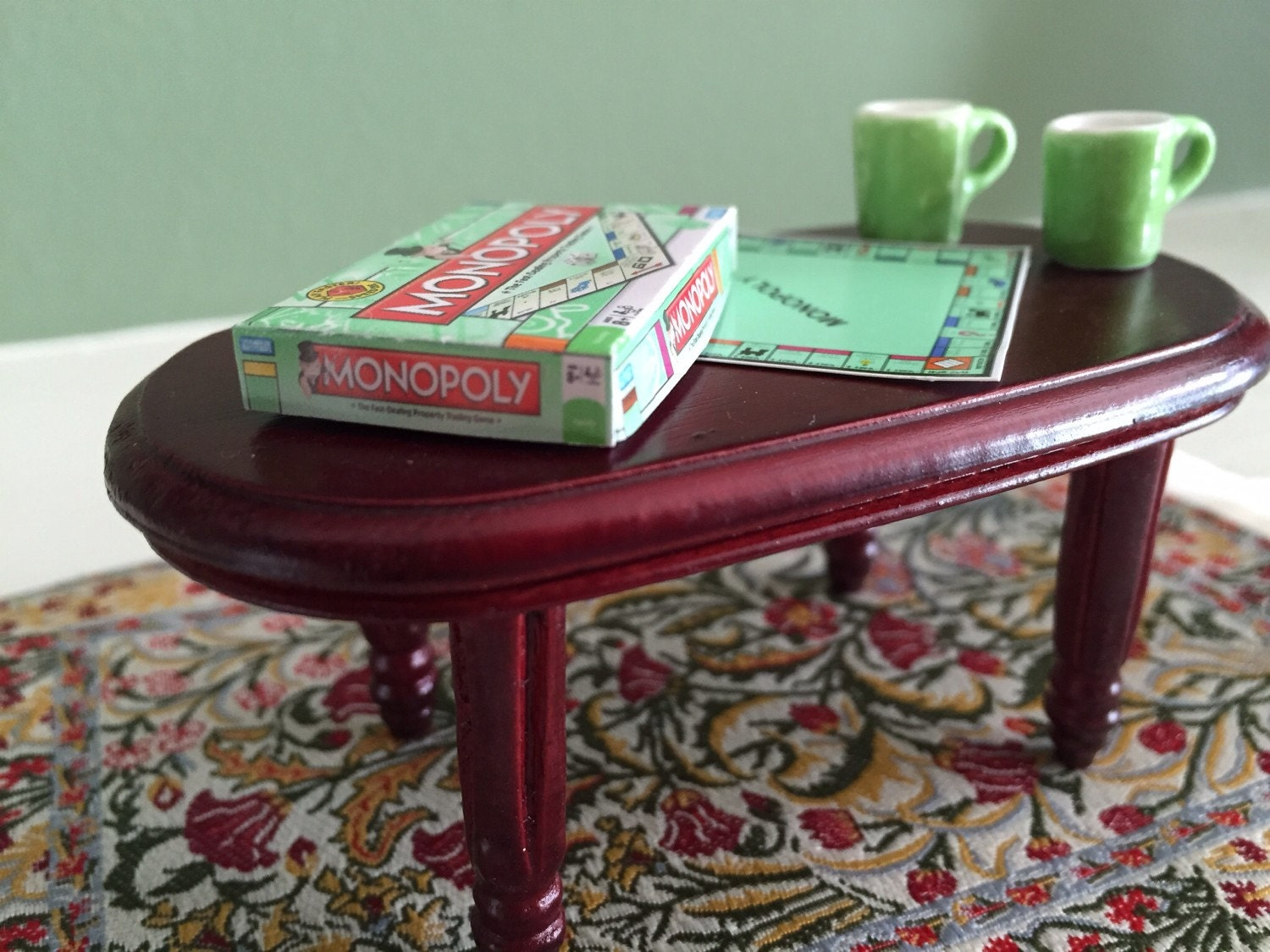 Dollhouse Coffee Table With Monopoly Game
