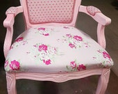 chair Cute Shabby chic cottage accent chair , English style , shabby chic upholstery pink flowers