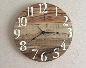 "12"" pallet clock, exact one will be custom made with these pallet similarities"
