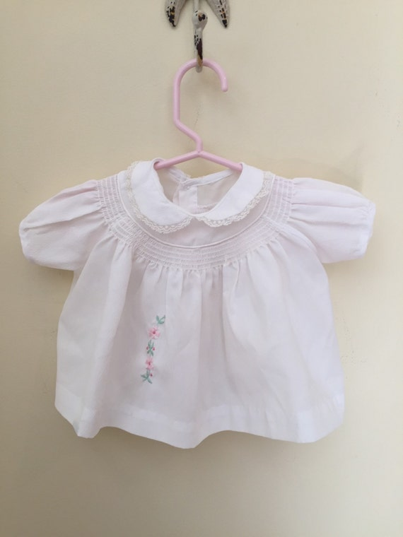 Vintage Baby Dress Size 3 Months White Baby Dress Baby Girls