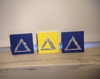 Mini Tri delta canvases