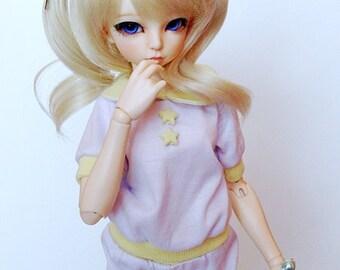 Cute BJD Outfit Set - Pastel BJD T-shirt - Minifee Bloomers - SD Top - Msd Bjd Pants - Jid Bjd Clothes - Yosd Clothing Set - Fairy Kei - 1/4