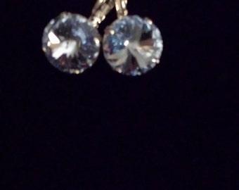 14mm Swarovski Crystal Earrings
