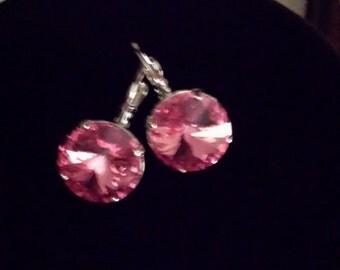 Swarovski crystal 14mm earrings
