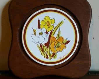 Vintage Goodwood Trivet/ Goodwood Trivet/ Vintage Kitchen Trivet/ Vintage Goodwood Cheese Tray/ Teak wood trivet/ Vintage Kitchen Decor