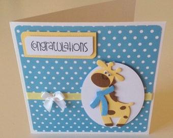 Handmade baby card (boy)