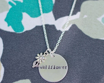 Perks of Being a Wallflower Inspired Hand Stamped necklace
