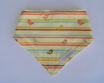 Yellow bird adjustable bandana bib