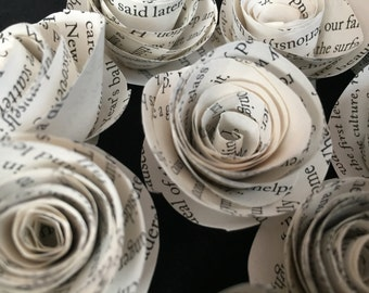 50- Book Page Roses