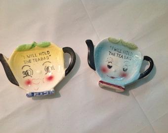 SWEET TEA  !! Vintage tea bag holder