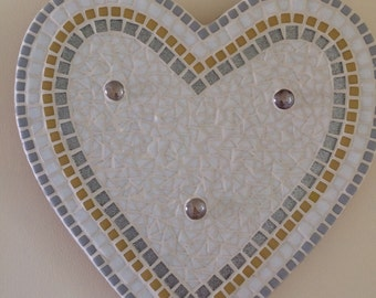 You Are My Happy - Handmade Heart Mosaic