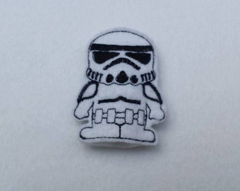 space soldier finger puppet embroidery design